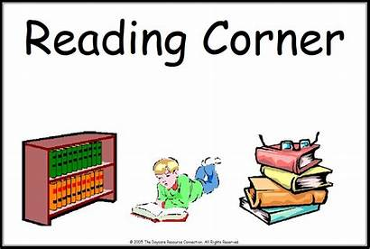 Corner Reading Classroom Clip Signs Center Clipart