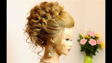 Curly Hairstyle For by Curly Hairstyle For Medium Hair Wedding Prom Updo