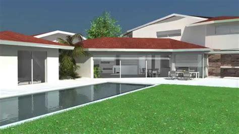 maison contemporaine dedans dehors de plain pied 224 patios