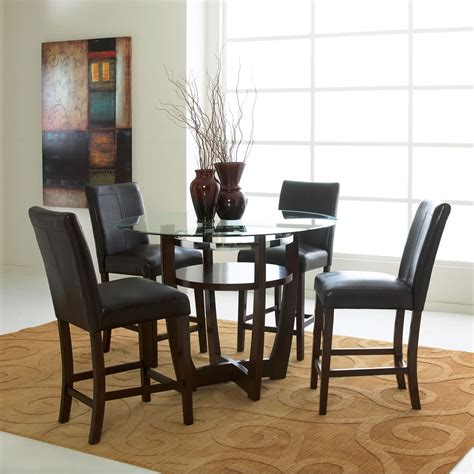 5 counter height dining room sets 42 inch dining room set in antique oak