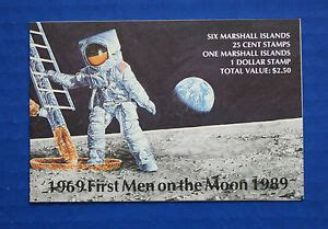 Marshall Islands (#238a) 1989 First Men on the Moon 20th ...