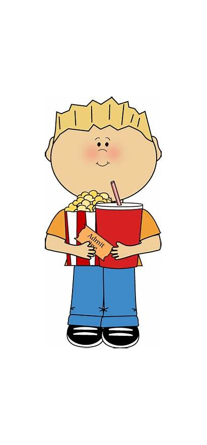 Clipart Snacks Movie Kid Snack Popcorn Clip