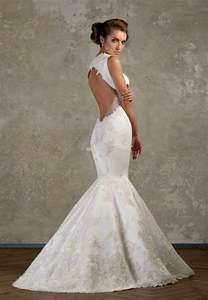 mermaid lace wedding dresses backless lace mermaid wedding dresses ideas