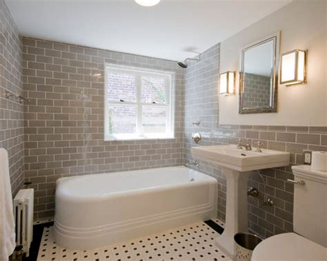 grey subway tile bathroom 38 grey bathroom wall tile ideas and pictures