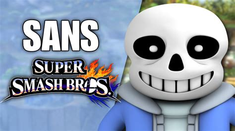 Sans (undertale) In Super Smash Bros! (smash 4 Wii U Mod