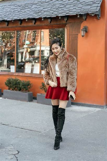 Leather Boots Lace Jewelry Knee Skirt Holidays