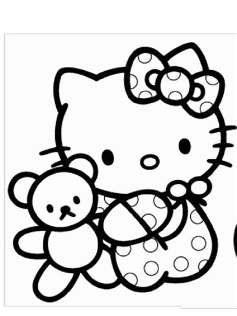 Hello Kitty Coloring Pages Free download on ClipArtMag