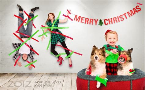 awesome christmas card toddler duct tapes parents
