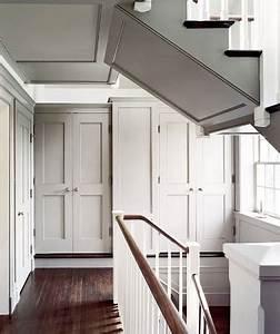 Couleur Peinture Couloir : couleur lin clair peinte sur un plafond dans un couloir ~ Mglfilm.com Idées de Décoration