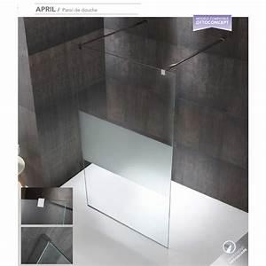 Paroi Douche Verre Sablé : paroi de douche fixe april verre de 8 mm robinet and co ~ Premium-room.com Idées de Décoration