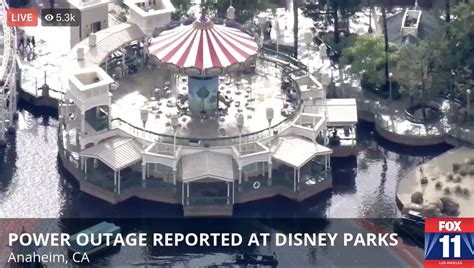 power outage reported  disneyland resort attractions