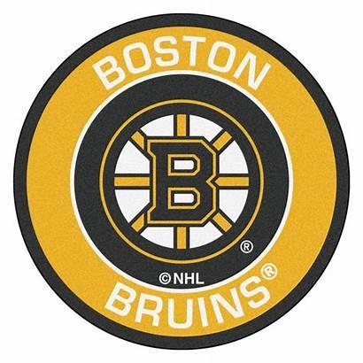 Bruins Boston Nhl Round Hockey Yellow Area