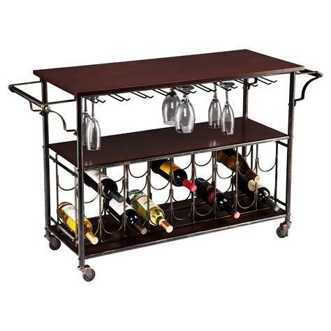 bar cart with wine rack southern enterprises licia wine bar cart wine racks at