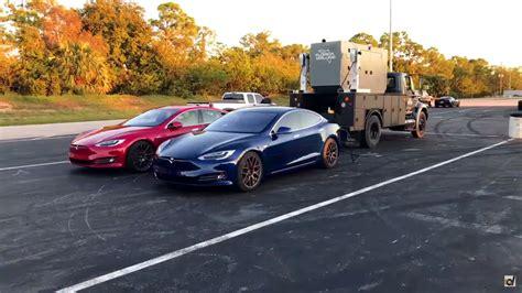 Tesla Model S Uses Industrial Generator To Set New 1/4