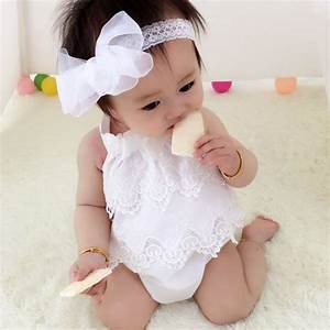 Newborn Clothing 2016 Baby Girl Cute Bodysuits Lace Tulle ...