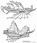 Airship Steampunk Deviantart Ship Concepts Shoomlah Ships Sails Drawing Concept Flying Chinese Spelljammer Neopets Air Vector Airships Fantasy Boat Pirate sketch template