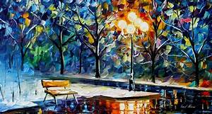 WINTER NIGHT — PALETTE KNIFE Oil Painting On Canvas By ...