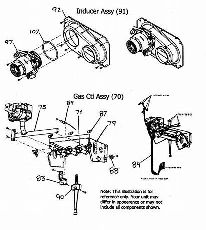 Furnace Payne Parts Gas Inducer Assy