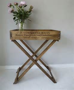 Wooden Butler Tray Table
