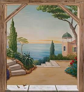 Tableau Trompe L Oeil Paysage : trompe l oeil mural pour un style original ~ Melissatoandfro.com Idées de Décoration