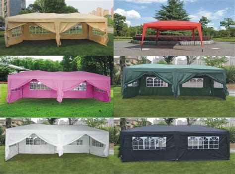 ez pop  wedding party tent folding gazebo canopy  sides carry bag ebay