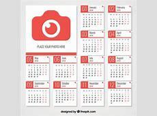 Calendrier 2018 avec caméra Télécharger des Vecteurs