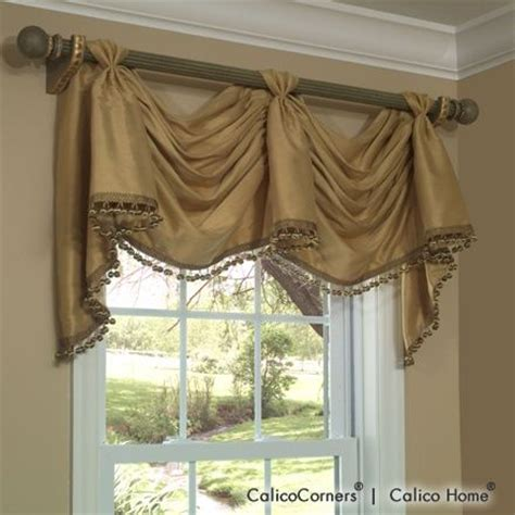 Swag Valances Window Treatments by Victory Swag Valance In Roma Sand Window Treatments