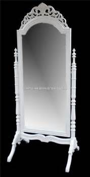 a french chateau style ornate cheval dressing long mirror in antique white hampshire barn