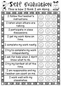An easy personal self evalution sheet for students to use ...