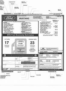 window sticker and vin info the mustang source ford With ford invoice price by vin