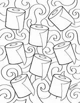 Paper Toilet Colouring Sheet Printables sketch template