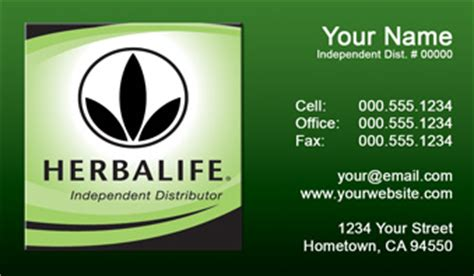 herbalife business cards  shipping  design