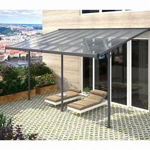 Pergola Adossée 4x4 : pergola adoss e ajustable en aluminium 3 05x5 57m x metal ~ Melissatoandfro.com Idées de Décoration