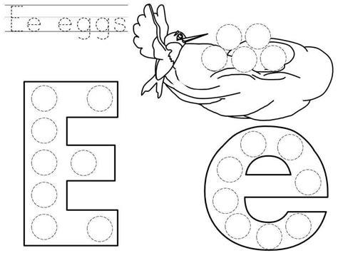 dot letter  printable funny crafts dot letters