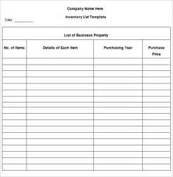 inventory list template 4 free word excel pdf
