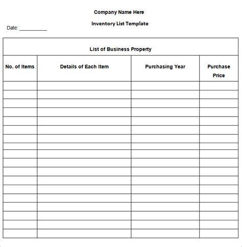 inventory list template inventory list template 13 free word excel pdf documents free premium templates