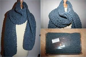 Echarpe Femme Laine : tuto tricot echarpe grosse maille ~ Nature-et-papiers.com Idées de Décoration