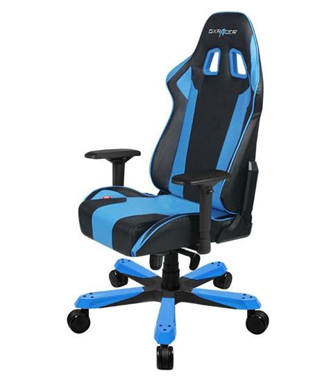dxracer ks06 series gaming chair neck lumbar support black blue
