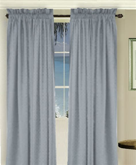 solid wedgewood blue colored window curtain