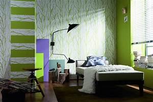Schöner Wohnen Tapeten Schlafzimmer : wohnzimmer tapeten mit verschiedenen dessins waverly ~ Michelbontemps.com Haus und Dekorationen