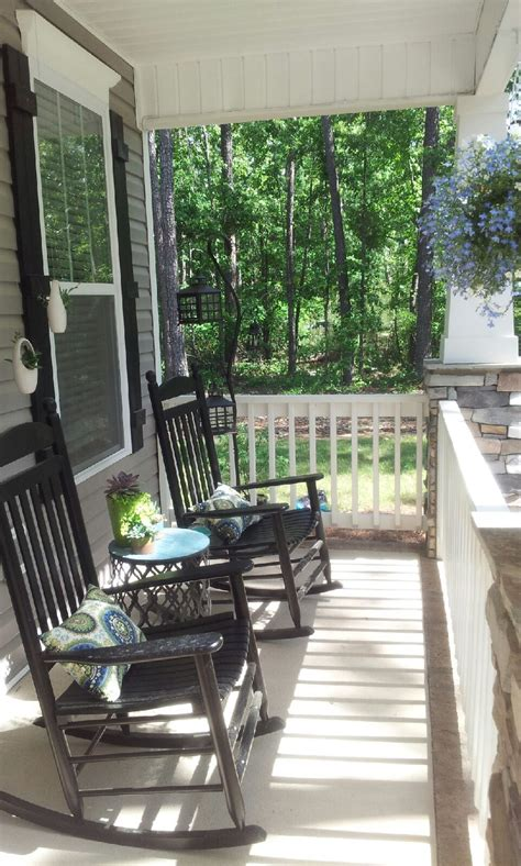 Small Porch Chairs by My Southern Front Porch Design The Black Rocking Chairs