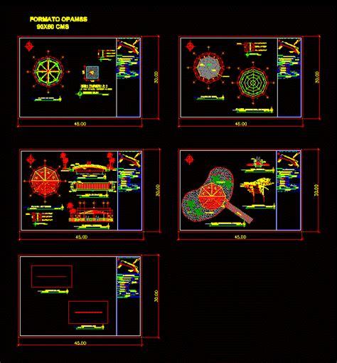 kiosk  artificial island  dwg design plan  autocad