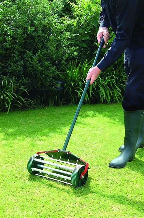 lawn aerator bosmere w301 rolling lawn aerator steel all garden tools