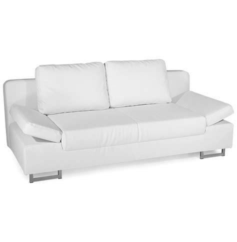 canapé convertible blanc simili cuir canape simili cuir blanc