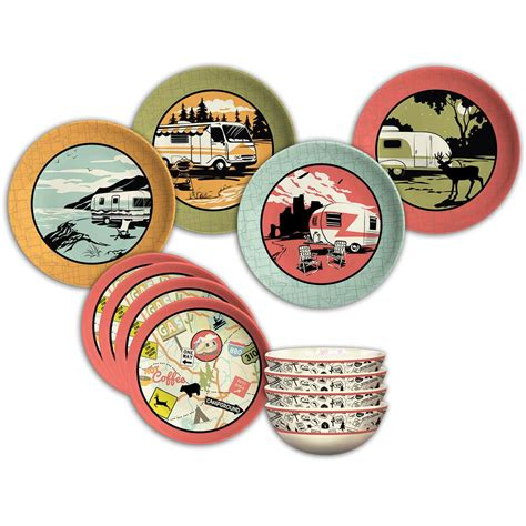 camp dish dishes casual camping dinnerware campingworld