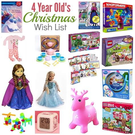 christmas wish list 4 year old girl girls christmas