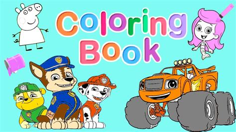 nick jr coloring book pt  blaze paw patrol dora