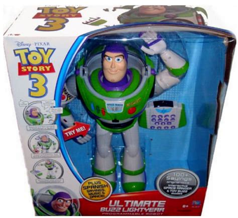 toy story 3 buzz lightyear ultimate voice command 16in robot rc remote ebay