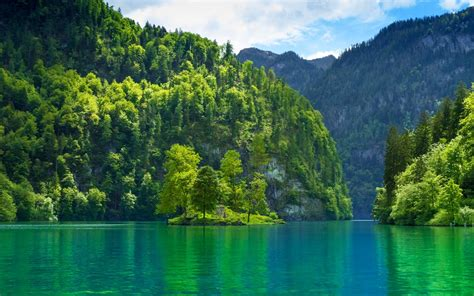 lake, Nature, Landscape, Germany, Mountain, Forest, Water ...