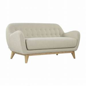 balthasar canapes canape 2 places beige tissu habitat With tapis kilim avec canapé beige tissu 2 places